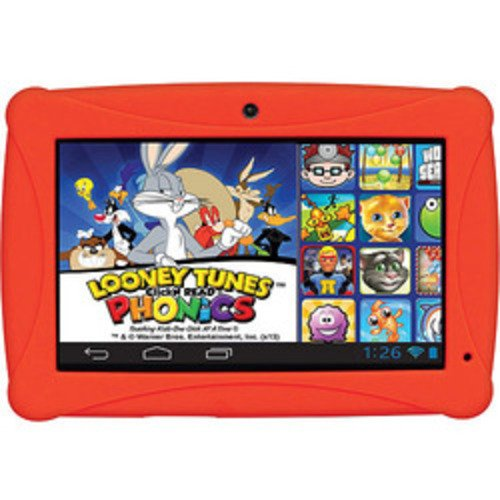 ClickN Kids CKP774-RD 7'' Tablet with Looney Tunes Phonics 8GB Android Red by HKC