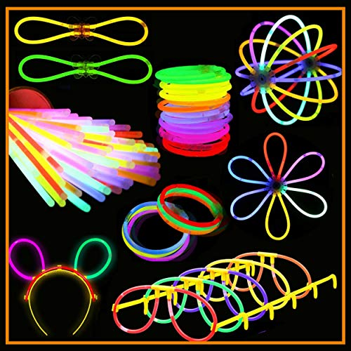Go Party! Supplies Glowsticks 400+ pc Bulk Glow in The Dark Light Sticks Party Favor Supplies Premium Light up Toys
