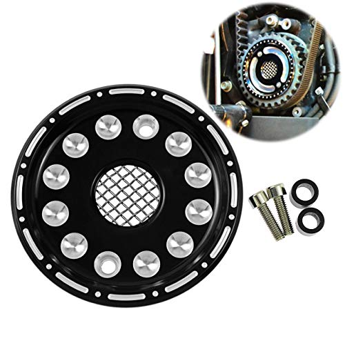 Countershaft Cover Sprocket - Rebacker Motorcycle CNC Front Pulley Cover Mesh Center Cover Cap for Sportster XL 2004-up (Except XR1200R)