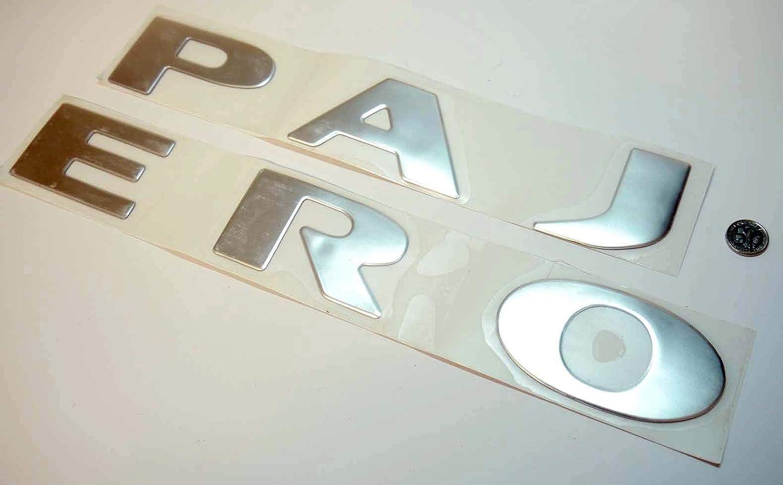 Autodily Chrom XL Gro/ß 700mm X 50 mm Pajero Motorhaube Emblem