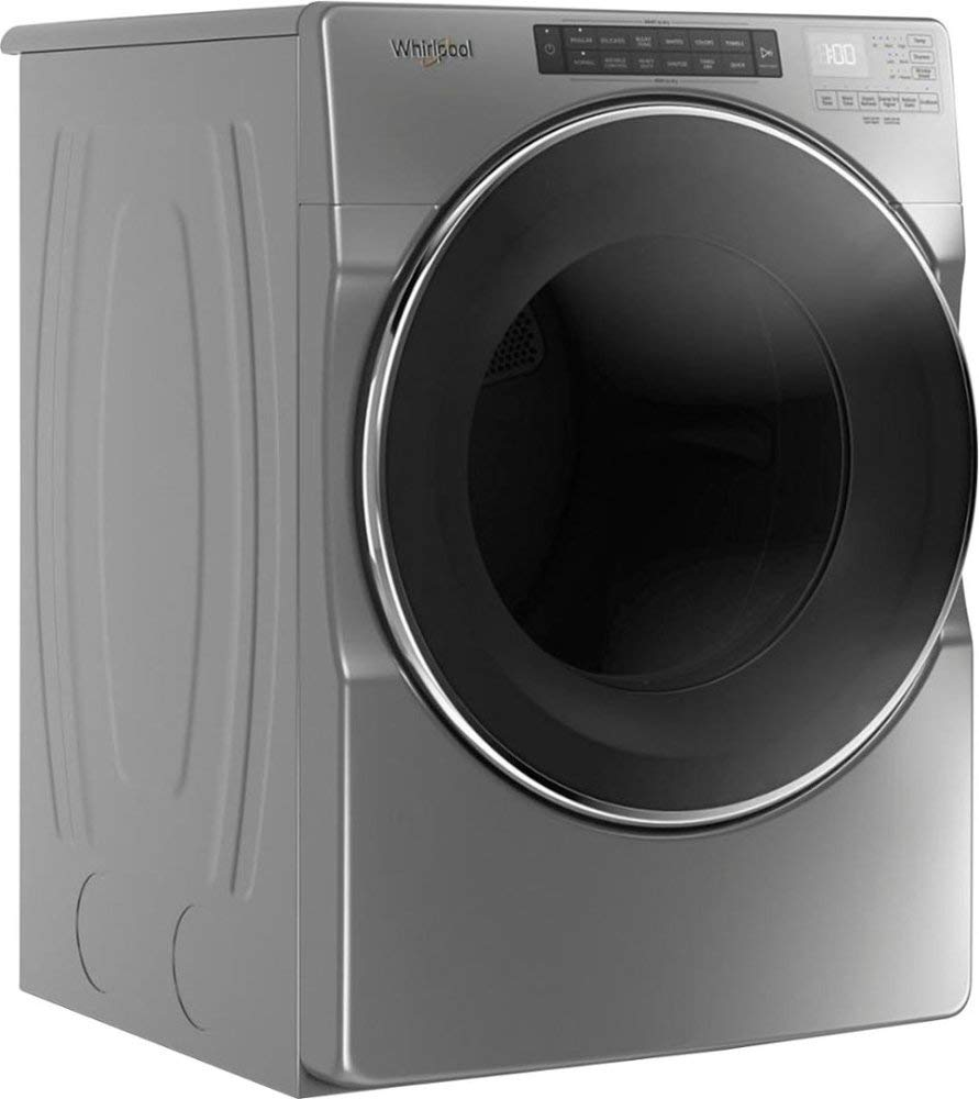 Whirlpool - 7.4 Cu. Ft. 37-Cycle High-Efficiency Electric Dryer with Steam - Chrome Shadow-Model:WED6620HC by Lucarat