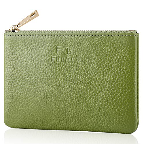 Genuine Leather Coin Purse FurArt Change Purse With Zipper,Soft Leather Coin Pouch, Mini Size ()