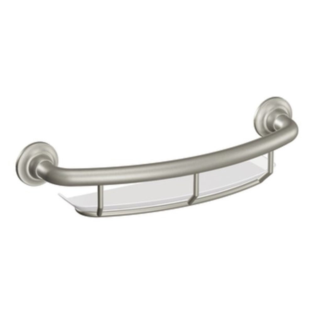 Amazon.com: Moen LR2356DBN 16-Inch Grab Bar with Shelf, Brushed ...