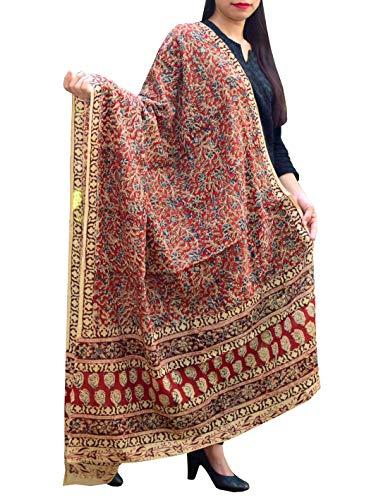 GiftPiper Cotton Kalamkari Dupatta Pattern - Multicolour