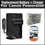 Replacement Extended Battery For Canon NB-7LH NB-7L 1500MAH + 1 Hour Charger For Canon Powershot G10 Powershot G11 Powershot G12 + Free LCD Screen Protectors