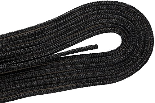 Boots Lace Military (DDD-82 Military Boot Black 72 inch Round Laces 2 Pair Pack)
