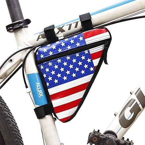 自転車バッグ 自転車トップチューブバッグ フレームバッグ 防水自転車バッグフロントトップチューブサドルフレームポーチバッグアクセサリーキーに適し財布携帯電話 適用 旅行/アウトドア/スポーツ/遠足など (Color : White, Size : 20*18.5*4cm)