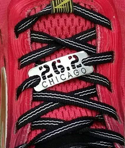 {ONE} 26.2 Chicago Marathon Cutout shoelace Tag