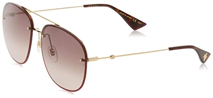 e701a3581e Image Unavailable. Image not available for. Colour  Gucci Women s GG0227S 003  Sunglasses ...