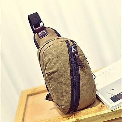 hongrun poitrine pack sac en toile hommes version coréenne de la marée sports loisirs package hommes sac à bandoulière unique paquet diagonale sacs sac petit sac à dos personnalisé