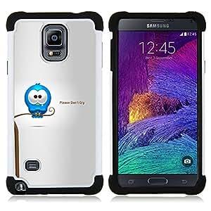 For Samsung Galaxy Note 4 SM-N910 N910 - Cry Tears Sweet Quote Love Cartoon Caring /[Hybrid 3 en 1 Impacto resistente a prueba de golpes de protecci????n] de silicona y pl????stico Def/ - Super Marley Sh