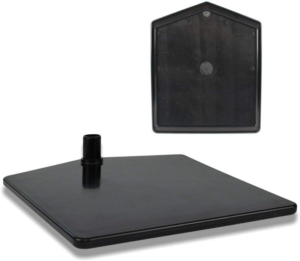 Kundenstopper h/öhenverstellbar bis 68 cm St/änder Kunststoff schwarz Aufsteller Teleskopst/änder mit Fu/ß eckig Plakatst/änder DIN A4 Rahmen transparent mit U-Tasche