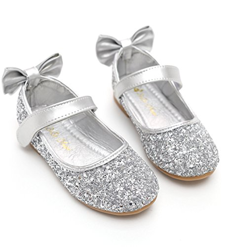 gold silver dress shoes - 8