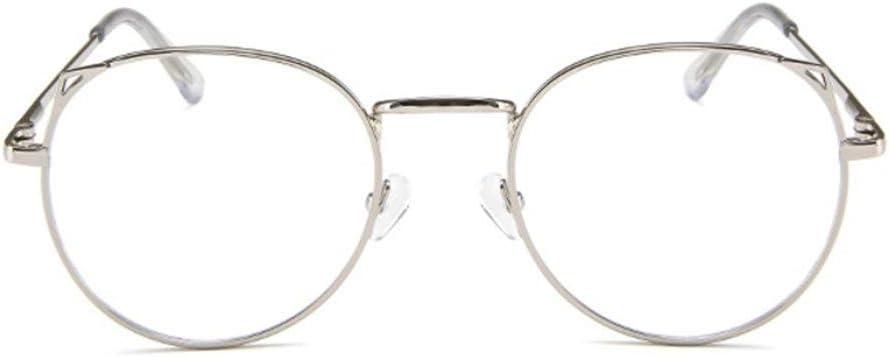 Prima05Sally Marco de Metal Simple para Todos los Estudiantes Gafas de Bloqueo de luz Azul Marco de Gafas de Moda Ligera