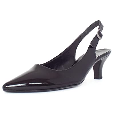 4d76077f6101 Gabor Hume Women s Pointed Toe Sling Back Shoes in Black Patent 5.5 Black  PATN