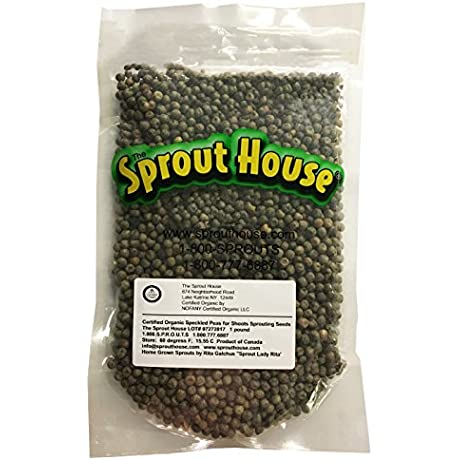 The Sprout House Certified Organic Non Gmo Sprouting Seeds Speckled Peas For Shoots 1 LB