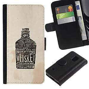 JackGot ( Partido Beber whisky de Brown Drunk ) Samsung Galaxy S5 V SM-G900 la tarjeta de Crédito Slots PU Funda de cuero Monedero caso cubierta de piel