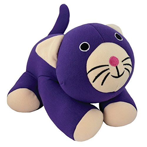 Yogibo Mate - Special Cotton Plush Toy Patented Fibead Filling - Huggable Sidekick - Stretchy Durable Stuffed Animal - Toys for Kids (Purple Cat)