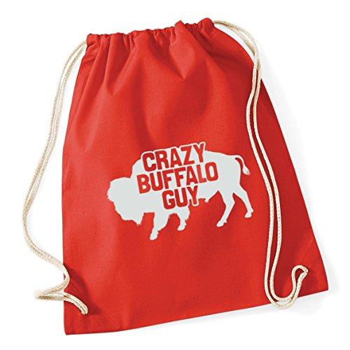 37cm Crazy HippoWarehouse Red Bag guy Sack Gym Kid 12 x Cotton School buffalo litres Drawstring 46cm Bright vvq4rwd