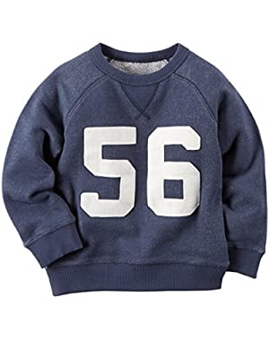 Carter's Baby Boys' Varsity L/S Pullover, Navy Blue, 6 Months