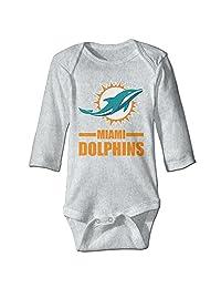 Hargus Baby Miami Dolphin 100% Cotton Romper Jumpsuit Romper Bodysuit Navy