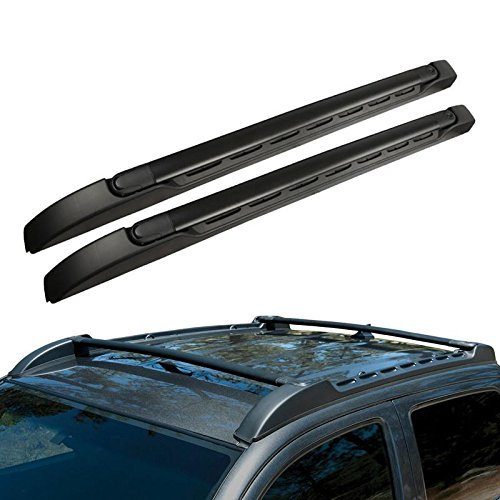 Syppo For 05-17 Toyota Tacoma Double Cab OE Factory Style Roof Rack Side Rails Bars Set with 125 Lbs Capacity Load 2005 2006 2007 2008 2009 2010 2011 2012 2013 2014 2015 2016 2017 (Factory Side Rails)