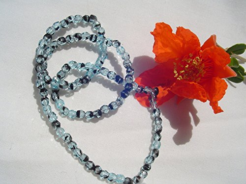 - FirePolish Glass Bead WR6-3mm Aqua Tortoise Shell 100pc