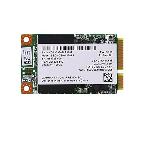 Intel 530 Series 120GB Solid State Drive (SSDMCEAW120A401) PCIe Module mSATA 6Gb/s, 20nm, - Intel Series Extreme