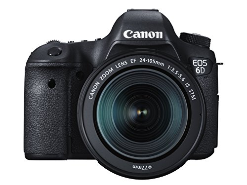Canon EOS 6D 20.2 MP CMOS Digital SLR Camera with EF 24-105mm IS STM Kit – Wi-Fi Enabled