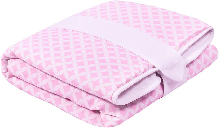 Colour: Pink Sparklings // White Travel Changing Mat 50 cm x 70 cm Manufactured in the EU Portable Mat LULANDO Waterproof Diaper Changing Mat for Babies and Toddlers