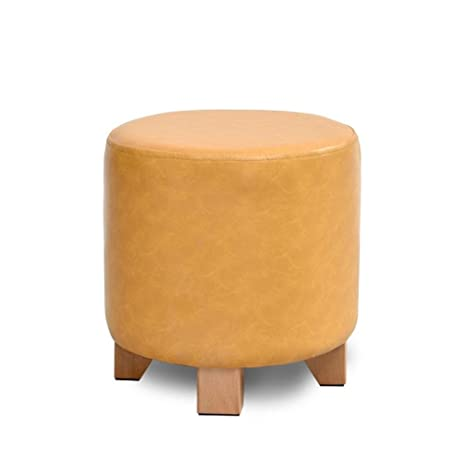 Magnificent Amazon Com Hmdx Upholstered Footstool Round Leather Gmtry Best Dining Table And Chair Ideas Images Gmtryco