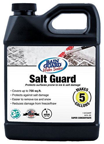 Rain Guard Water Sealers SP-1005 Salt Guard Super Concentrate Protects from Free Thaw and Damage from Ice. Covers up to 750 Sq. Ft. 32 oz Makes 5 Gallons