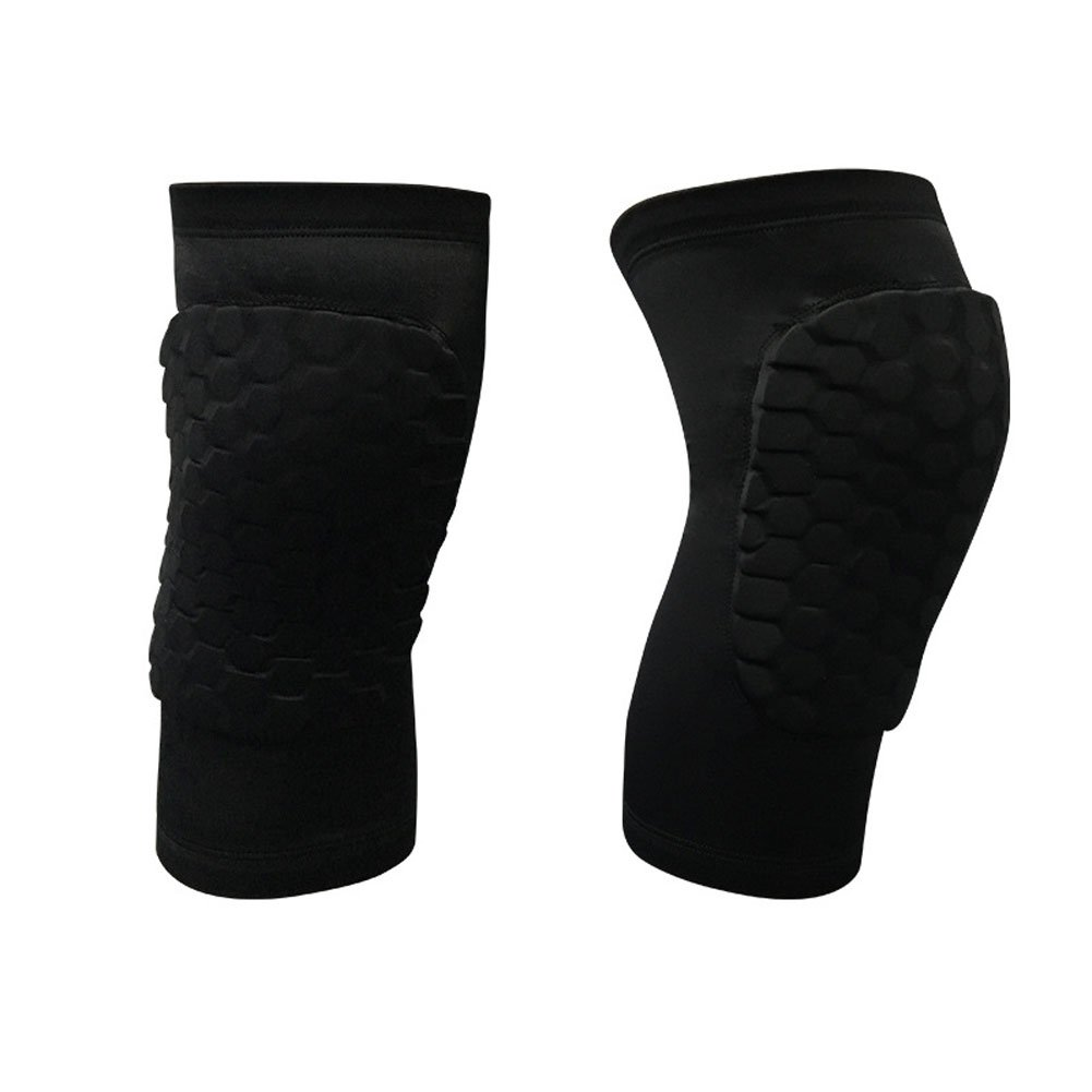 1 Pair Protective Gear Knee Pads Anti-slip Collision Avoidance Knee Sleeve For Outdoor Climbing Sports Riding Ridering