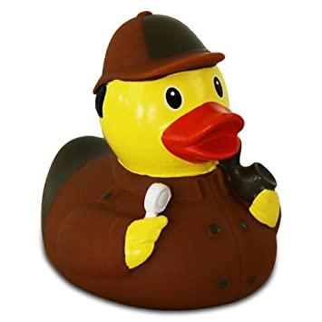 Lilalu 8 x 8 cm/50 g Collector and Baby Detective Rubber Duck Bath ...