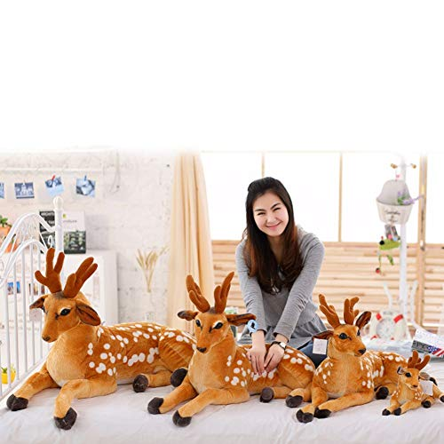 DENTRUN Sika Spotted Deer Plush Doll,Stuffed Animal Sika Spotted Deer Education Play Toys for Kids Girl Boy Birthday Xmas Gift Present 12/16/20/24/28/35 Inches