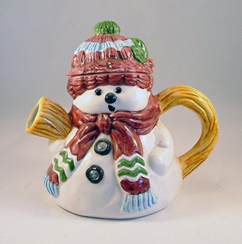 Snowman Decorative Teapot - Novelty Whimsical Collectors (Snowman Beverage)