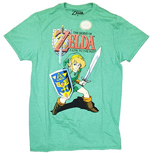 The Legend of Zelda A Link to The Past Green Graphic T-Shirt - Medium