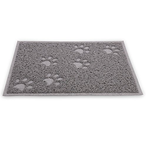 Quality-Gray-Cat-Litter-Trap-Mat-Non-Slip-Backing-Dirt-Catcher-Soft-on-Paws-Easy-to-Clean