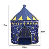Rurah Princess Castle Play Tent Blue Castle Playhouse Tents, Conveniently Folds Into A Carrying Case For Sale