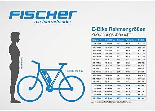 fischer E-Bike Mountain Bike EM 1608, 27,5 Pulgadas, Motor Trasero, Shimano 24 Marchas: Amazon.es: Deportes y aire libre