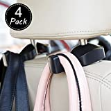 Automotive : Car Seat Front Back Headrest Hooks - Universal Car Storage Headrest Hanger Holder Hook For HandBag/Purse/Cloth/Grocery and More - Heavy Duty Purse Hooks - Best Car Accessories,4 Pack,Black,AK-064