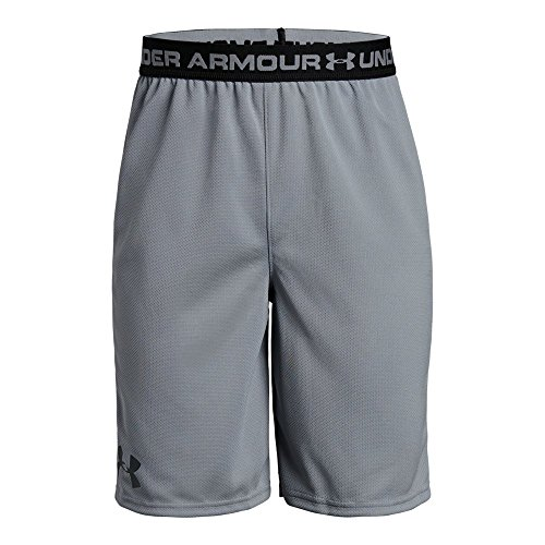 Under Armour Boys' Tech Prototype 2.0 Shorts, Steel /Black, Youth Large