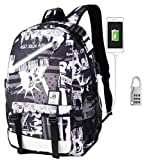KYD Unisex Cool Boys Girls Men Women Outdoor Backpack travel Backpack Anime Luminous Backpack Daypack Shoulder School Bag Laptop Bag with USB Charging Port (USB New York)