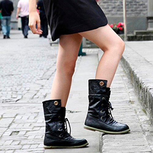 Bottines Femme Chaussures Cheville Bandage Martin Femmes Femelle vgqwpxf