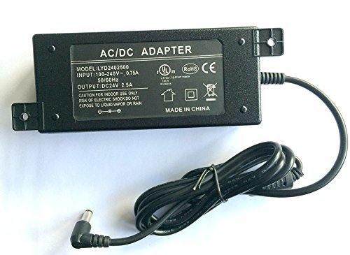WS-PS-24v60w 24 volt 60 watt power supply for PoE injectors 24v 2.5 amps UL and FCC approved.