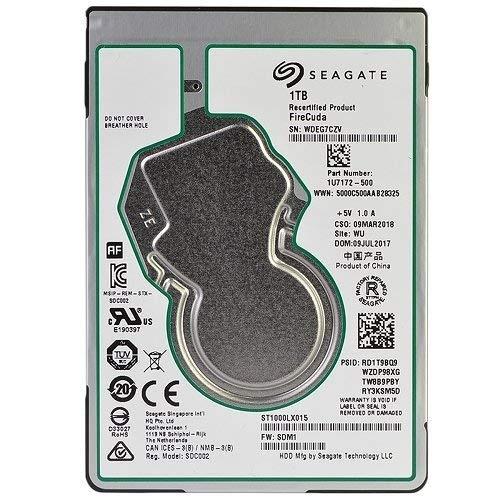 Seagate ST1000LXB15 Firecuda Gaming 1TB 2.5-Inch SATA 6GB/s 5400rpm 128 MB Cache Internal Hard drive ST1000LX015 (Renewed)