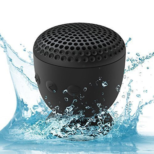 WhiteLabel Drop Waterproof Bluetooth Speaker, Water-resistant Suction Cup Shower Speaker, mini Wireless Speaker with MIC Bass Subwoofer for Bathroom Swimming Pool Gym Office Glass Wall - Place Water The Tower Hours