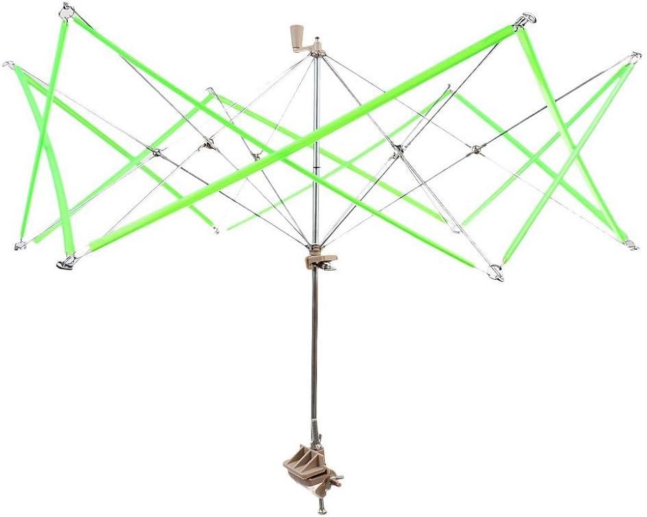 FANGXIN - Rulo de lana para tejer, bobina para sombrilla, soporte para paraguas, lana y hilo, color azul y verde