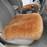 YAOHAOHAO Universal Full Set Deluxe sheep of the skin of the car seat cover wool chair pad, of color red
