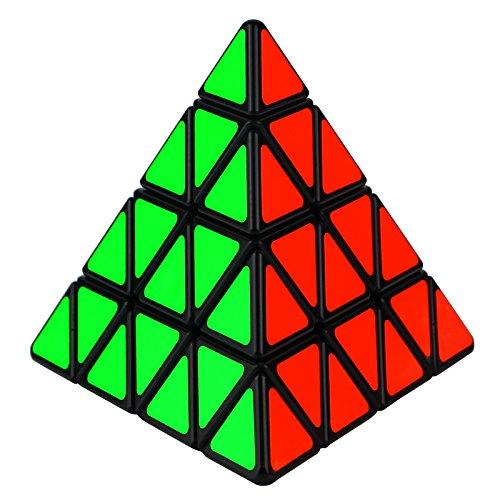Triangle Cube Magic - Dreampark 4x4 Pyraminx Speed Cube Pyramid Triangle Magic Cube Puzzle Perfect Gifts for Kids